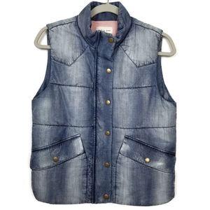 Cloth & Stone | vest | puffy | chambray | denim